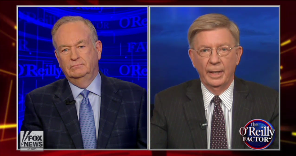 Bill O'Reilly e George Will Snarl It Out na Fox News